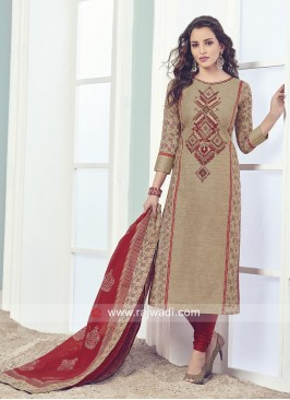 Straight Fit Readymade Salwar Kameez