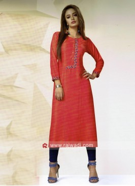 Straight Fit Round Neck Kurti