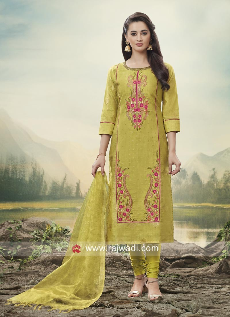 Straight Fit Salwar Kameez