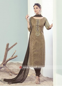 Straight Fit Salwar Suit wih Dupatta