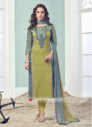 Straight Fit Salwar Suit with Dupatta