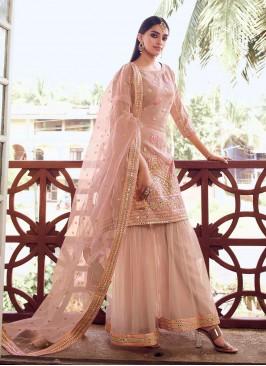 Strange Thread Peach Designer Pakistani Salwar Suit