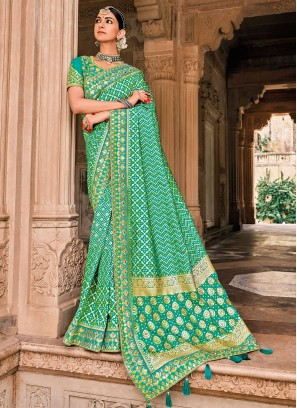 Striking Traditional Saree For Reception