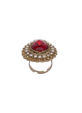 Studded Marsala Royal Finger Ring