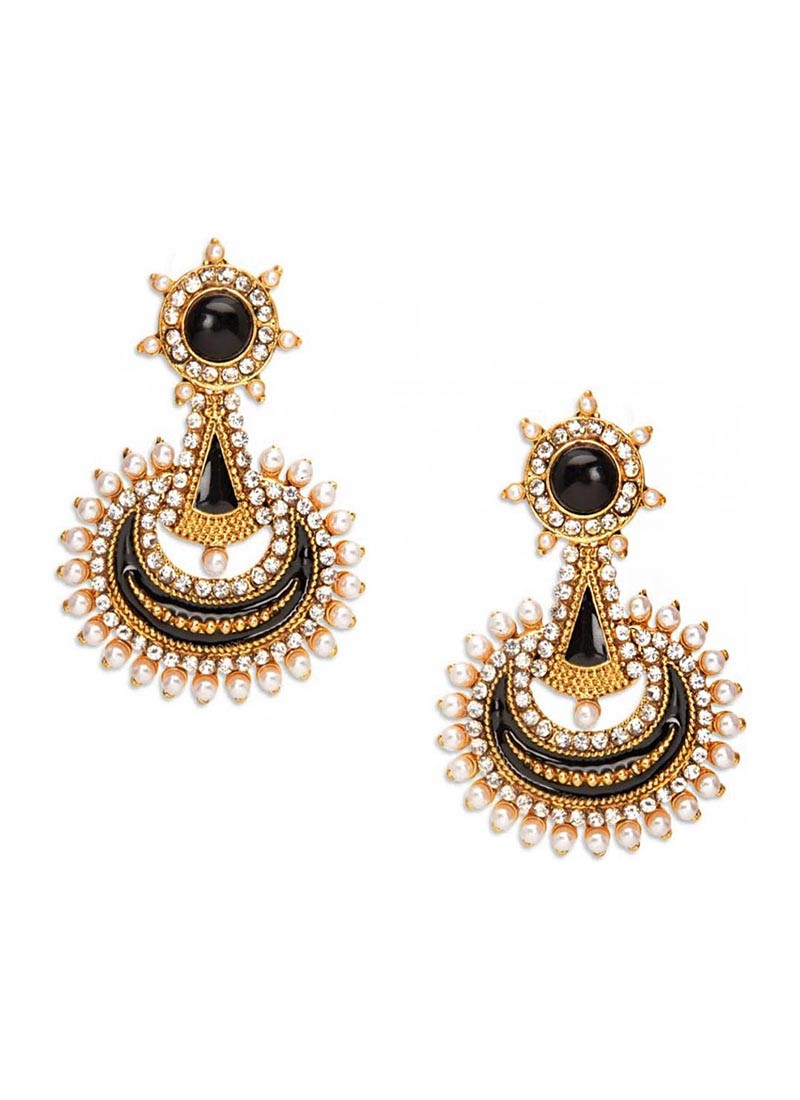 Stunning Black Beauty Pearl Earrings