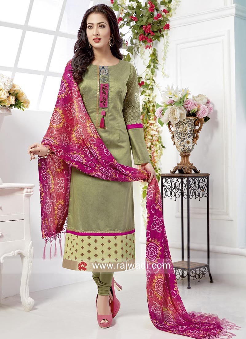 Cotton Silk straight Fit Salwar Suit