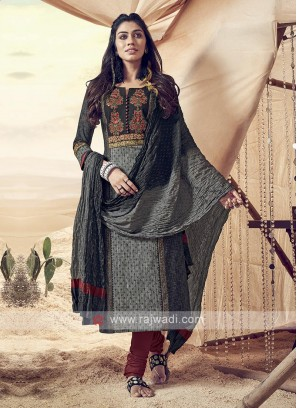Shagufta Stunning Cotton Churidar Salwar Suit