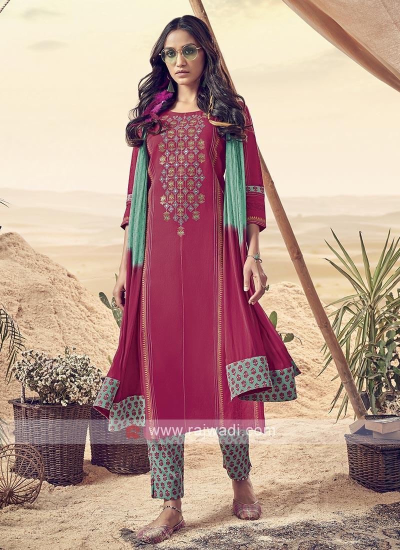 Shagufta Stunning Cotton Pant Salwar Suit