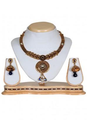 Stunning Kundan and Stone Work Necklace Set