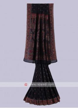 Stunning Black Color Saree