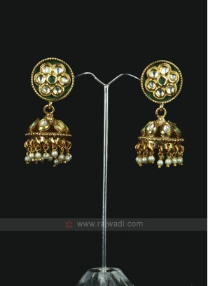 Stunning Green Color Jhumka