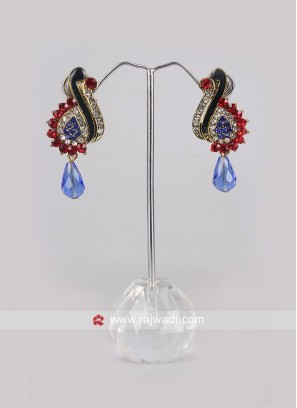 Stunning Red and Blue Earrings