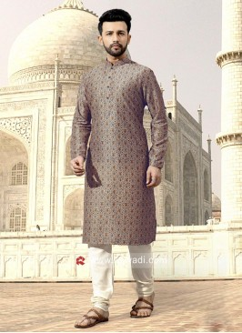 Stylish Art Silk Fabric Kurta Set