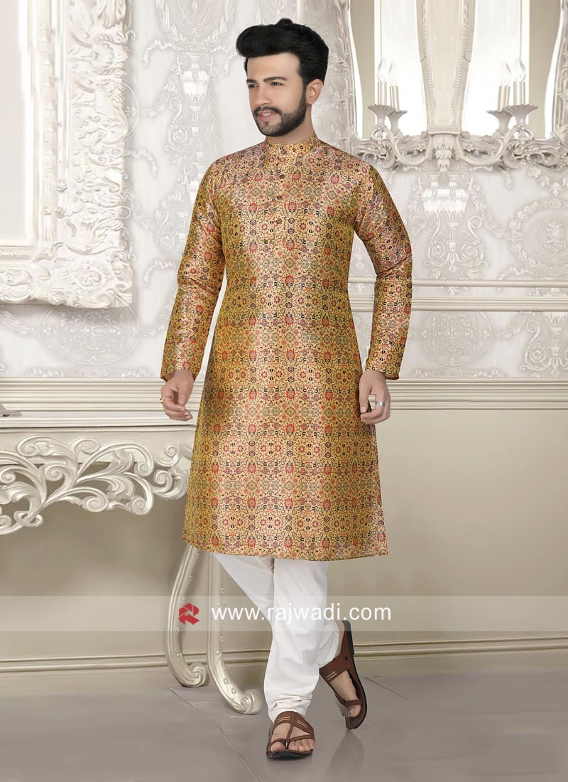 Stylish Art Silk Kurta Pajama