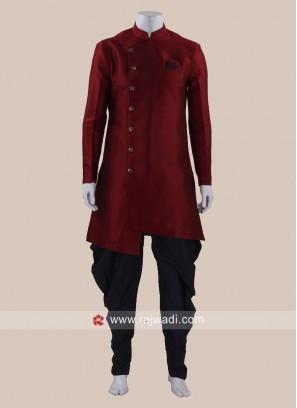 Stylish Art Silk Patiala Suit