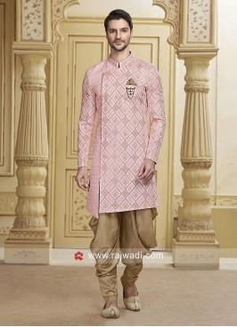 Stylish Art Silk Pink Patiala Suit