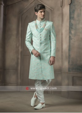 Stylish Art Silk Sherwani For Wedding