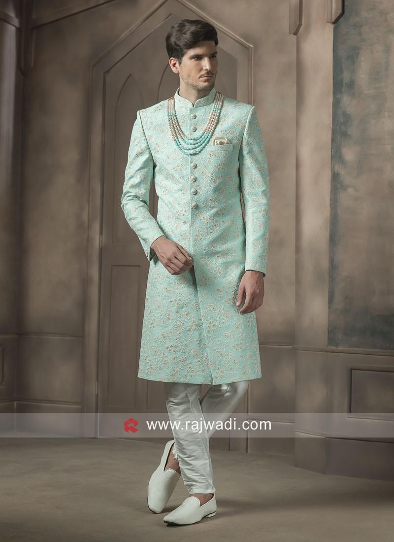 Stylish Art Silk Sherwani For Wedding