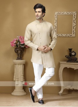 Stylish Beige Color Kurta Set