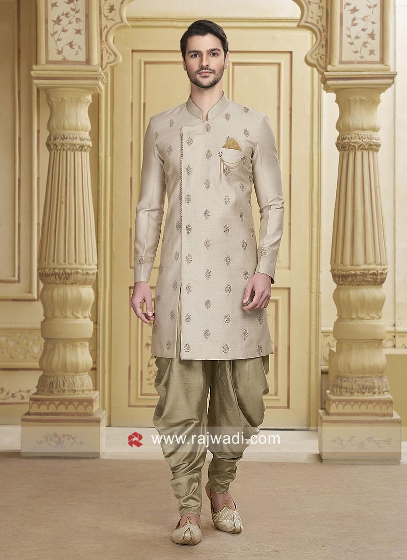 Stylish Beige Color Patiala Suit