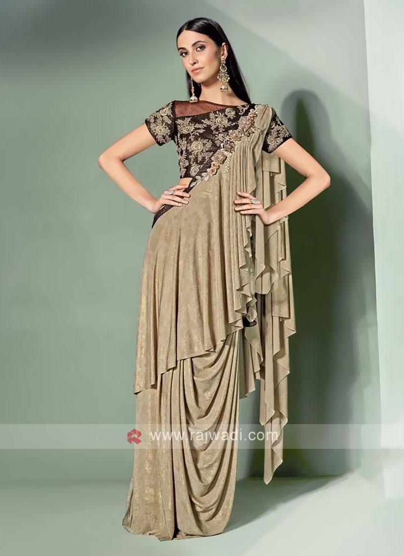 Stylish Beige Colour Saree