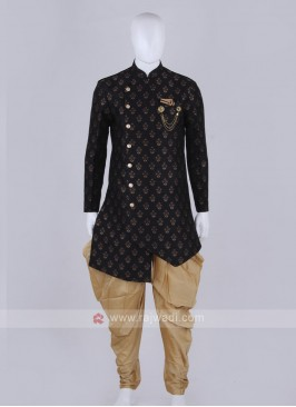 Stylish black and golden Indo Western
