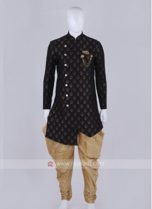 Stylish black and golden Patiala Suit