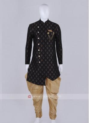 Stylish black and golden Indo Western