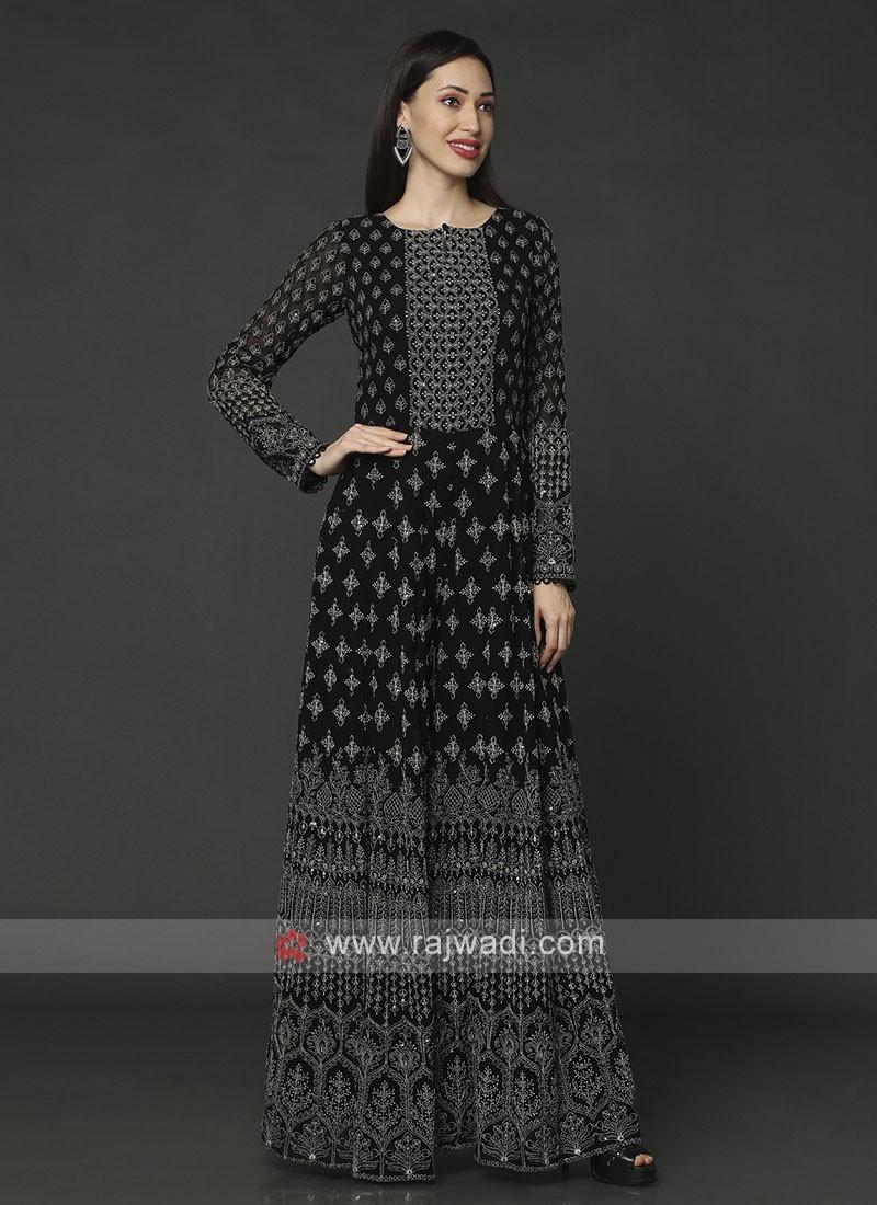 Stylish Black Color Chiffon Jumpsuit