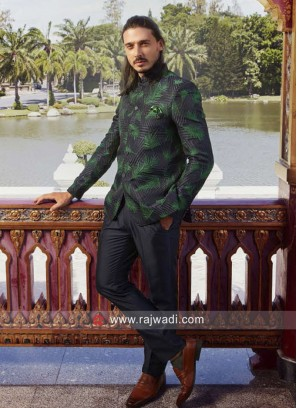 Stylish Navy Color Jodhpuri Set