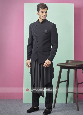 Stylish Black Color Indo-Western