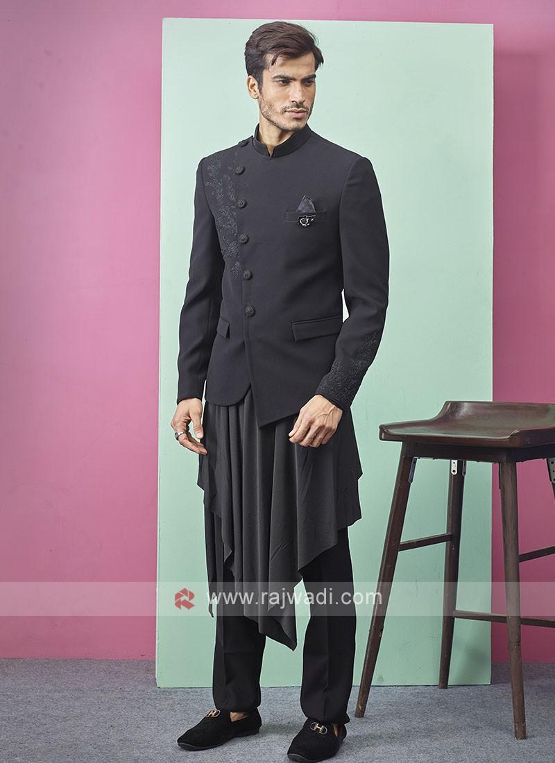 Stylish Black Color Indo-Western
