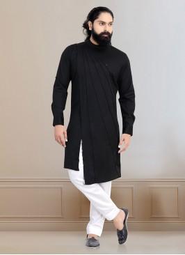 Stylish Black Color Kurta Pajama