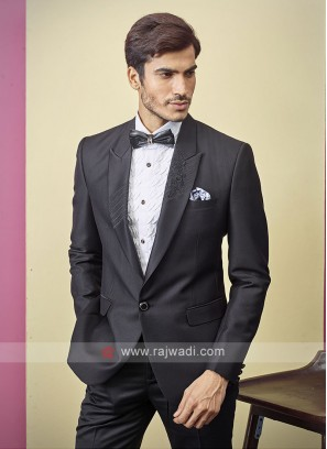 stylish black color suit