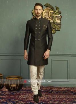 Stylish Black Indo Western For Men