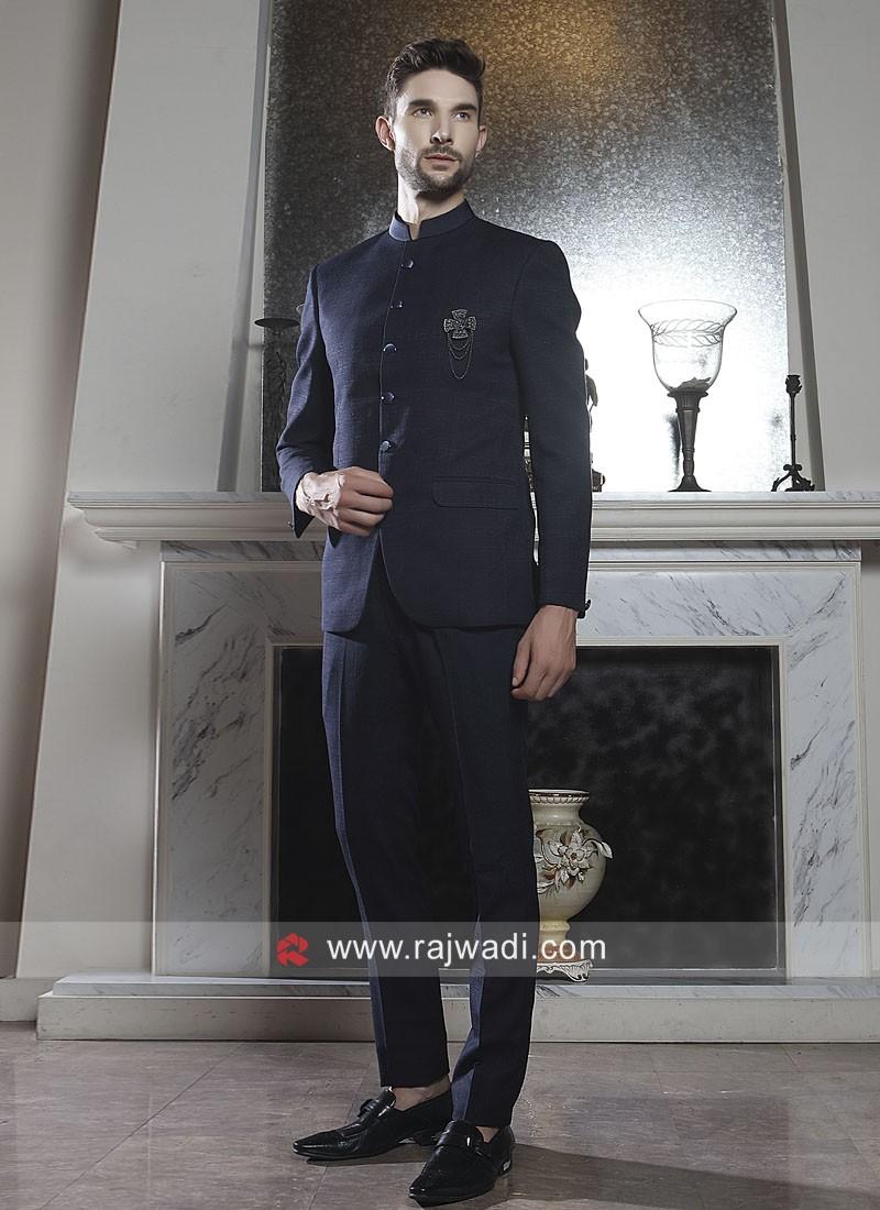Stylish Blue Jodhpuri Suit