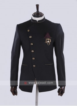 Stylish Black Jodhpuri Suit