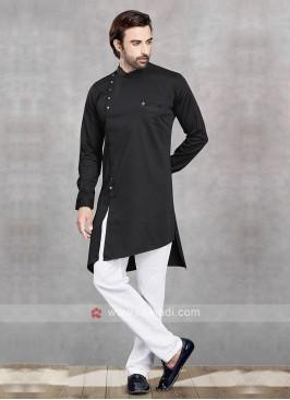 Stylish Black & White Kurta Pajama