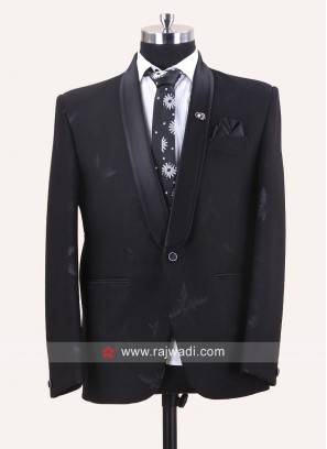 Stylish Black Party Wear Suit