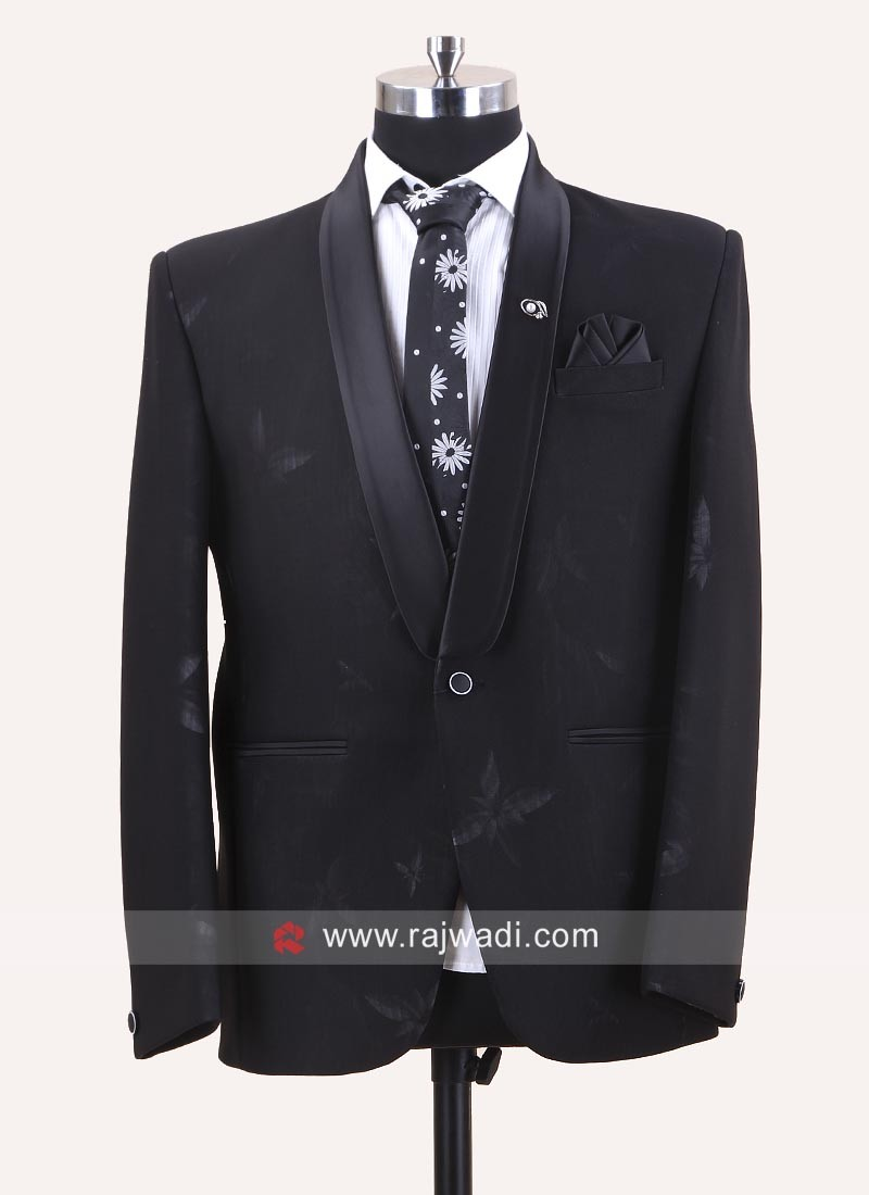 Stylish Black Party Wear Suit