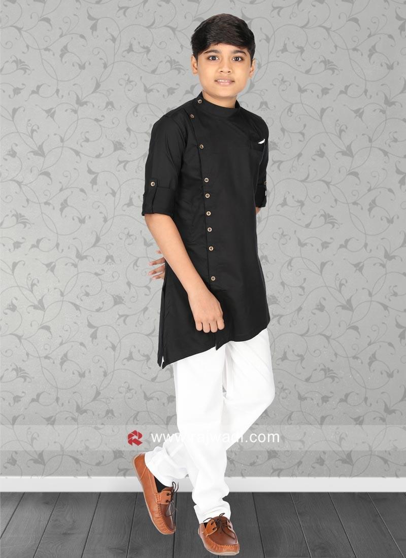 Stylish Black Pathani Set