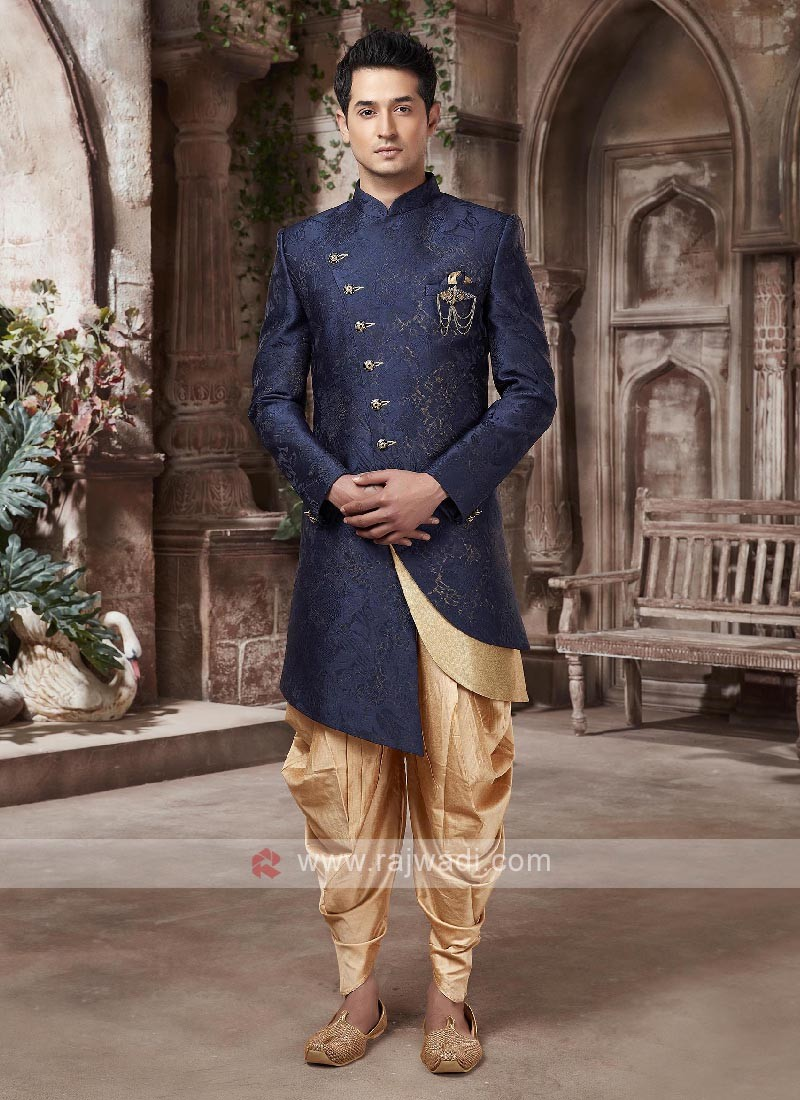 Blue And Golden Indo-western