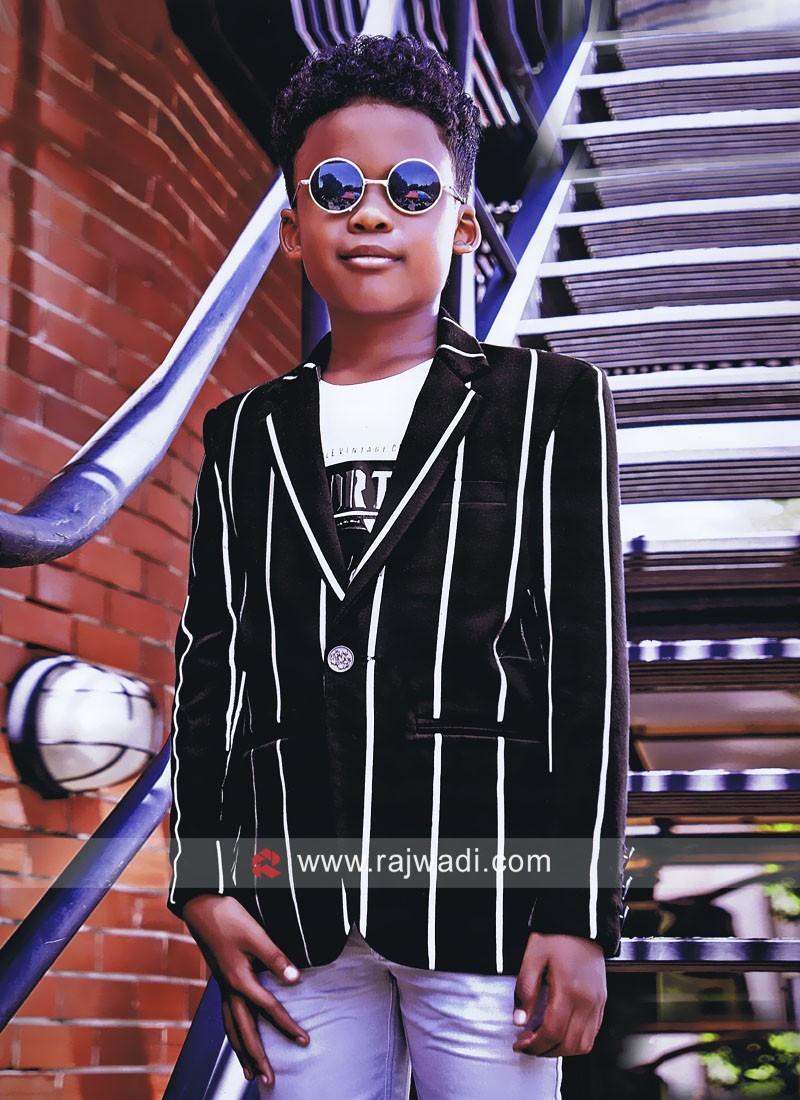Stylish Black Boys Blazer
