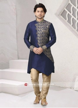 Stylish Blue Color Indo Western