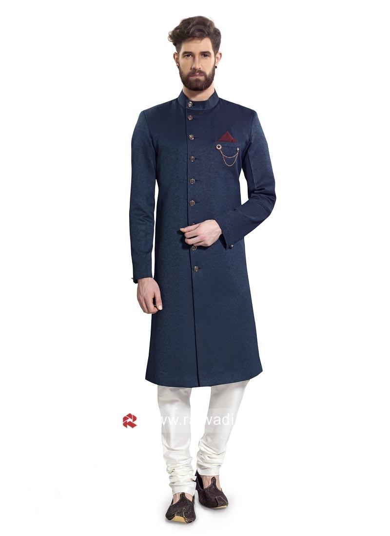 Stylish Blue Color Indo western