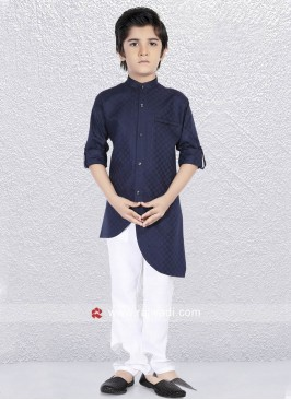 Stylish Navy Color Kurta Pajama