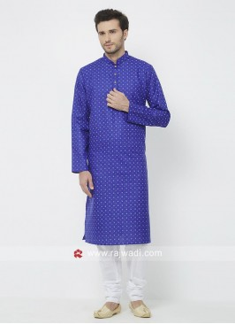 Stylish Blue Color Kurta Pajama