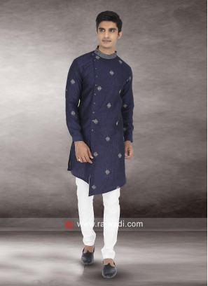 Stylish Blue Color Kurta Pajama
