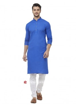 Stylish Blue Cotton Kurta Set