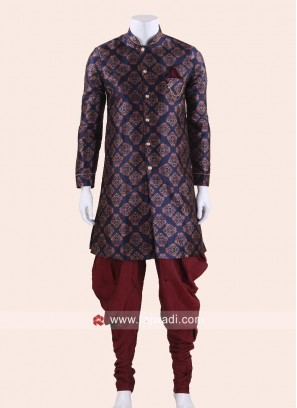 Stylish Blue Indo Western For Men
